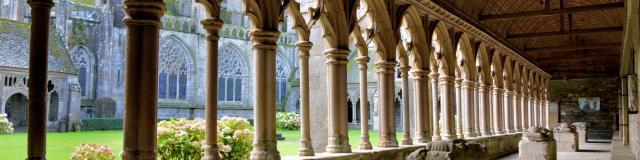 Intérieur de la cathédrale Saint-Tugdual de Tréguier en Bretagne