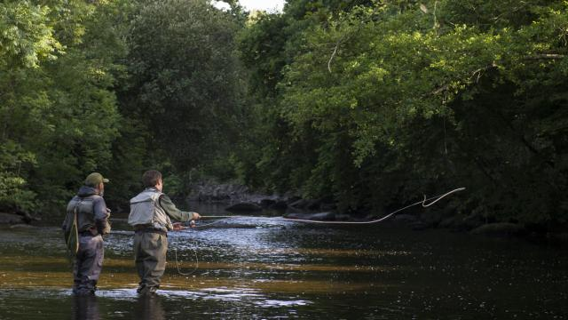 Eric Hamon en guidage pêche