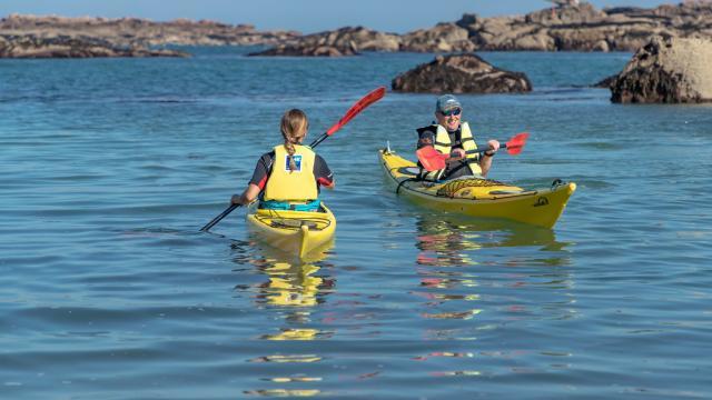 Kayak de mer Trégastel