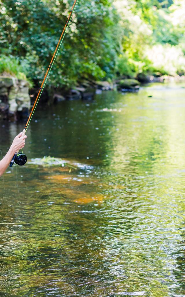 Pêche à la mouche sur le Léguer