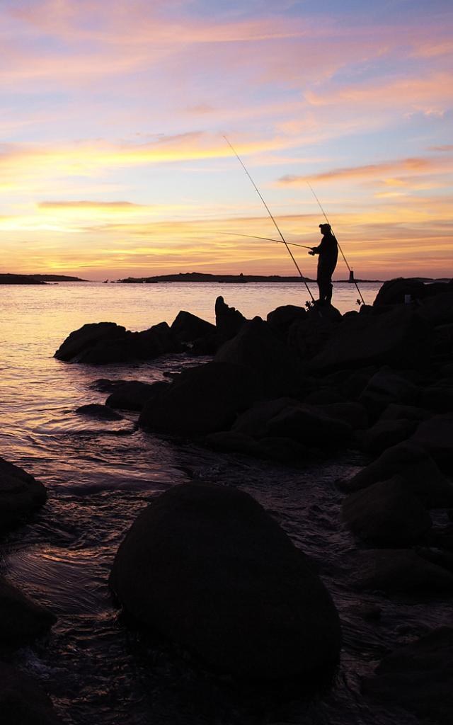 Pêche à la ligne Côte de Granit Rose