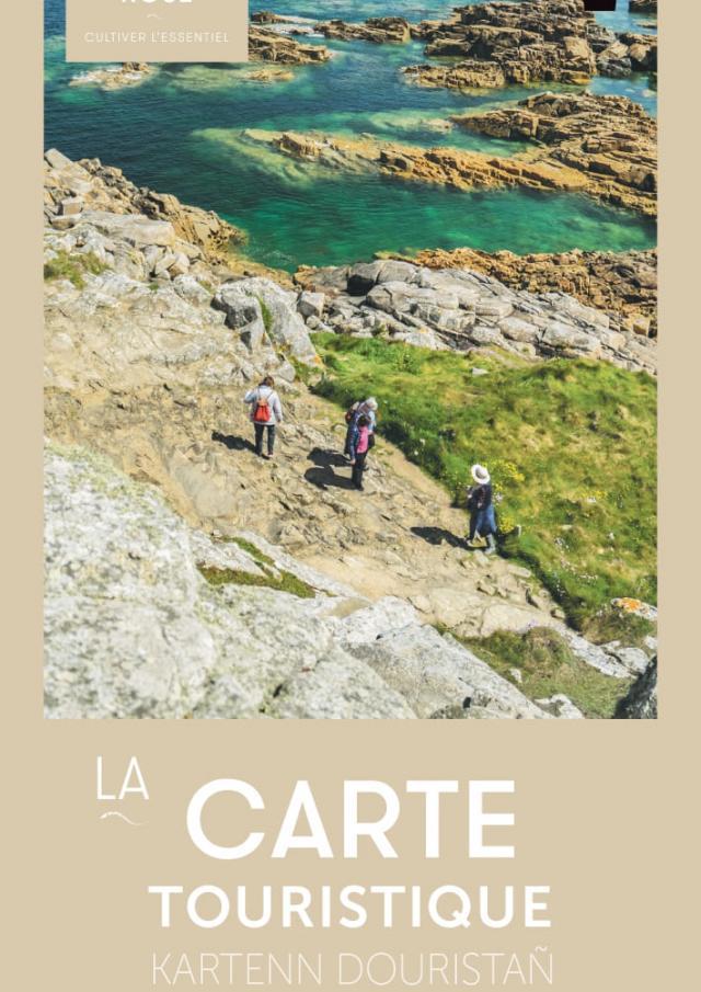 Carte touristique Tréguier Côtes d'Ajoncs - Presqu'île de Lézardrieux