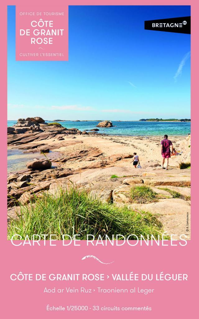 Carte de randonnées - Côte de Granit Rose et Vallée du Léguer