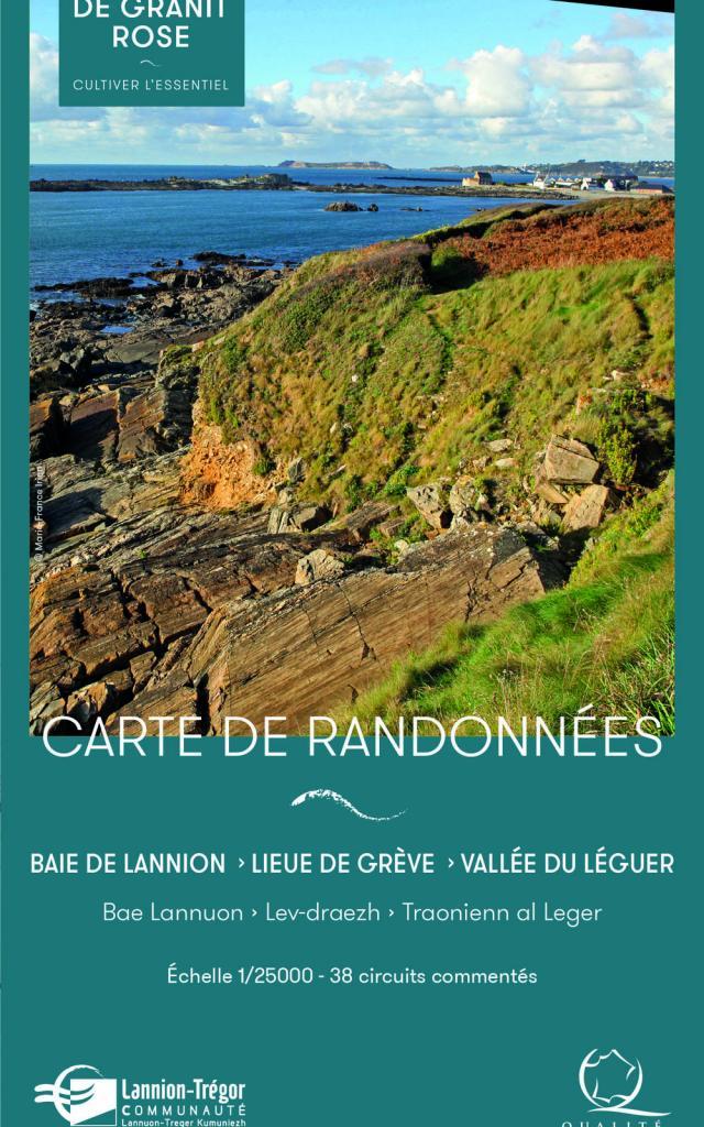 Carte de randonnées - Baie de Lannion, Lieue de Grève et Vallée du Léguer