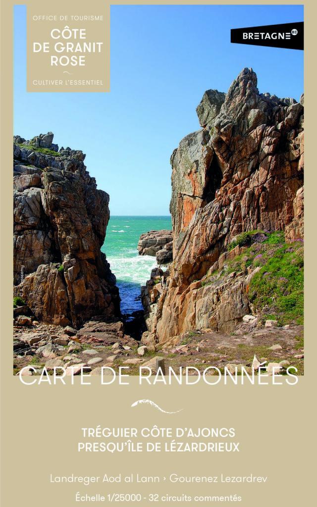 Carte de randonnées - Tréguier Côte d'Ajoncs et Presqu'île de Lézardrieux