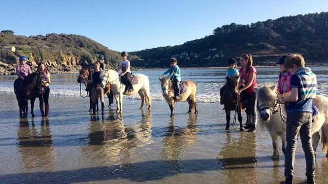 Balade à cheval en bord de mer avec Lannion Equitation