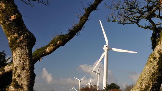 Site de Goariva et ses éoliennes - Plougras