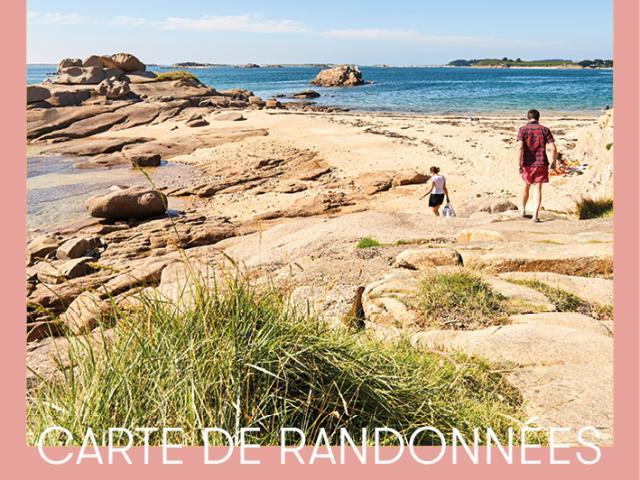 Carte rando Côte de Granit Rose - Vallée du Léguer