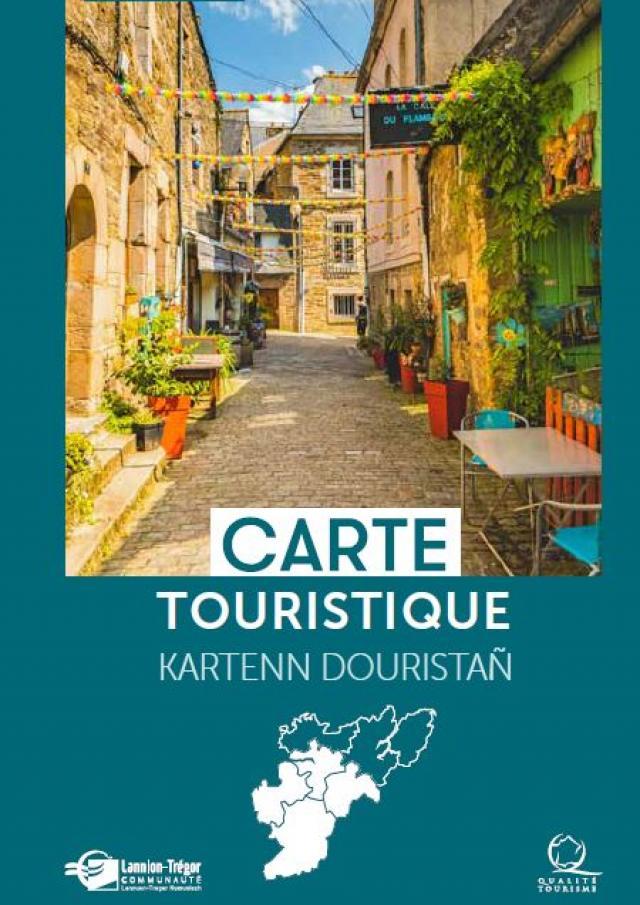 Carte touristique Lannion-vallée du Léguer