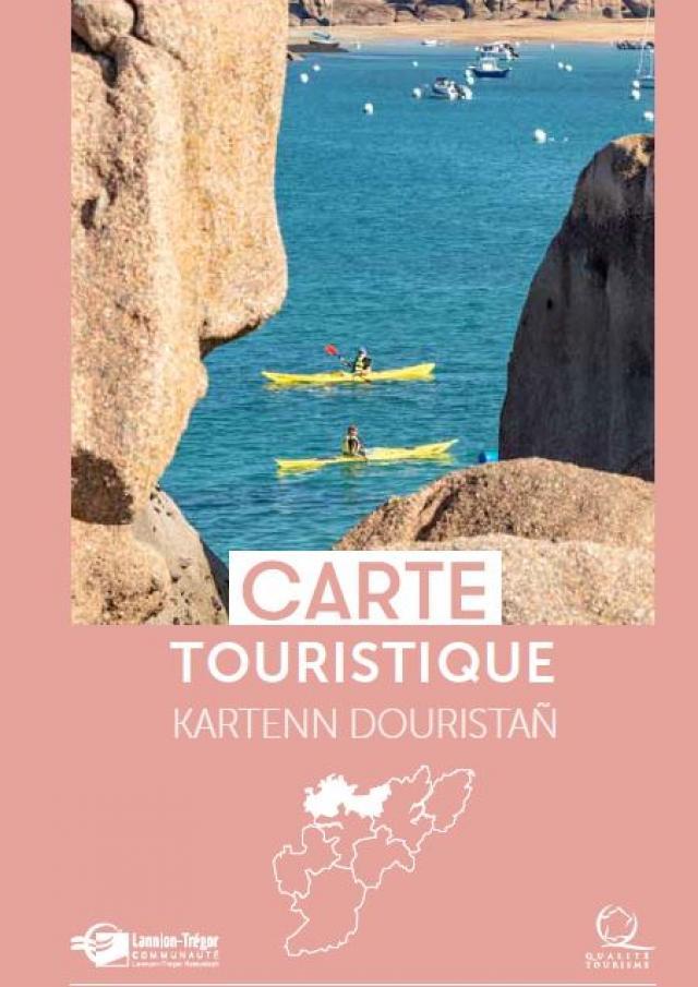 Carte touristique Trébeurden à Trestel