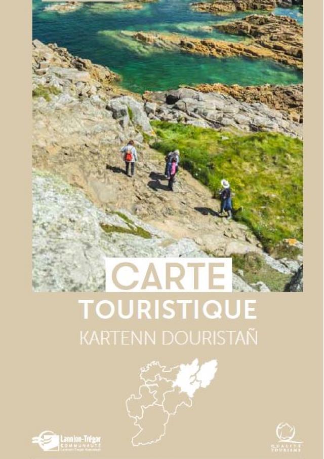 Carte touristique Tréguier-Presqu'île Lézardrieux