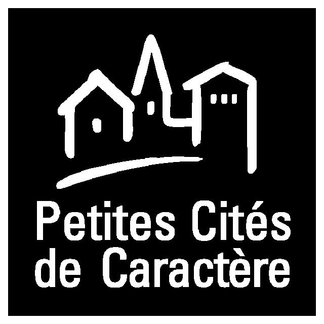 Logo Petites Cités De Caractère Blanc