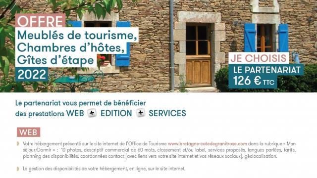 Offre de Partenariat 2022 Meublés De Tourisme
