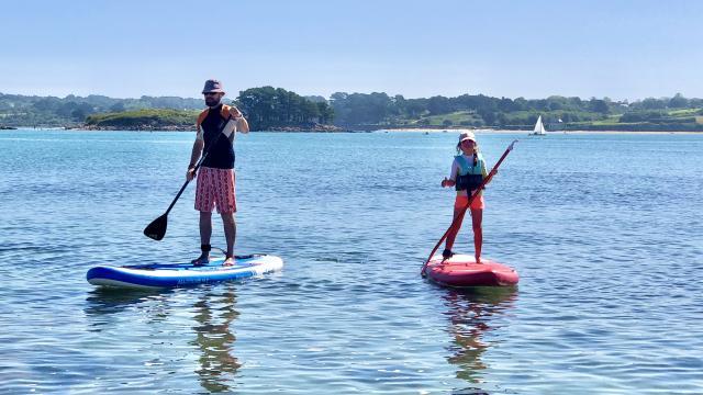 Stand Up Paddle à Toul Gwen Ile Grande